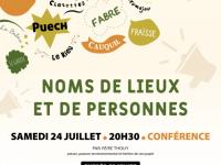 NOMS DE LIEUX ET DE PERSONNES, UN TRÉSOR, DES TÉMOINS